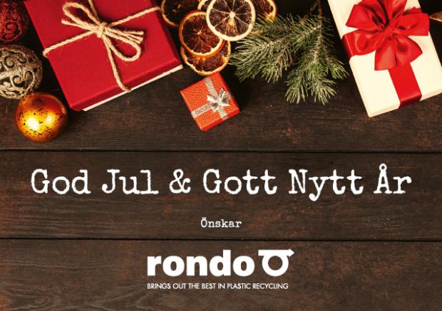 God Jul och Gott Nytt år från Rondo Plast